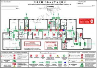 Пример этажного плана эвакуации