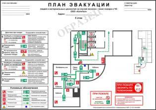 Пример секционного плана эвакуации